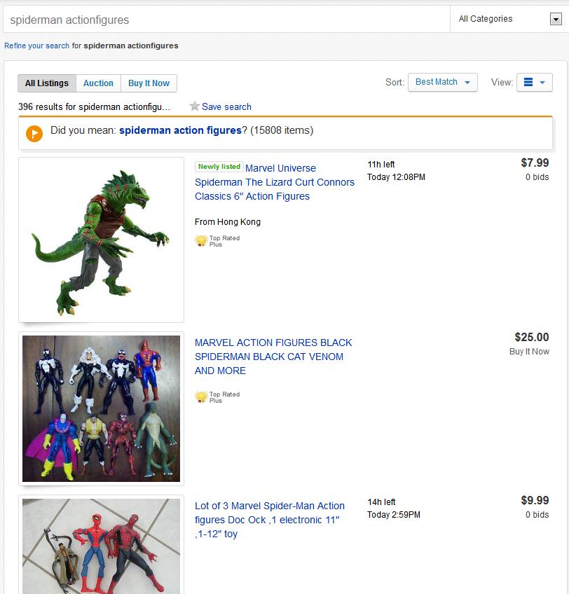 spiderman-actionfigures
